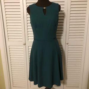 White House Black Market Teal dress Sz 10